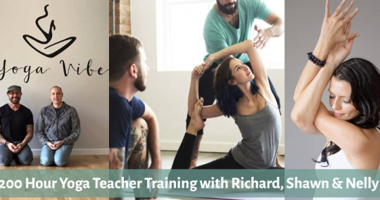 200 hr Yoga Teacher Training with Richard, Shawn & Nelly Certified by Yoga Alliance